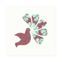 Dovely! Pretty floral-patterned singing dove gift cards (set of 6)