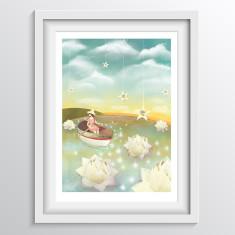 Dreamy Girl Nursery Wall Art - Nursery or Bedroom Decor Print