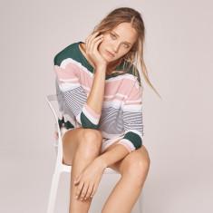 Haze Striped Fine Knit