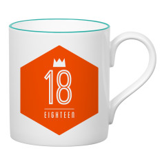 Eighteen birthday mug