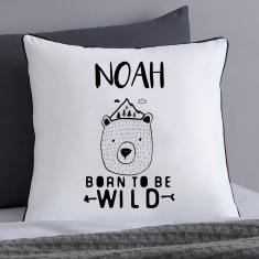 Personalised Scandi Bear Cushion Cover