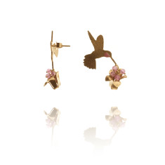 Amanda Coleman - Hummingbird & Flower Earrings