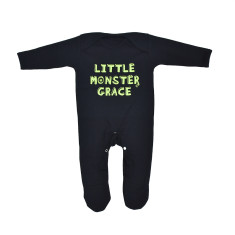 Personalised 'Little Monster' Baby Romper