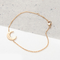 Personalised Moon Chain Bracelet