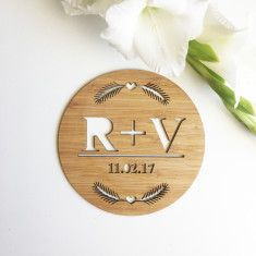 Nature Personalised Initials and Wedding Plaque