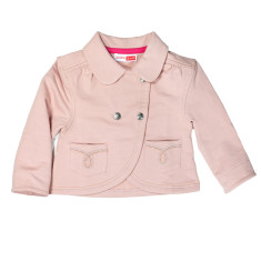 Girl's cropped jacket in peach