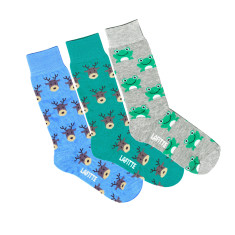 Lafitte reindeer and frog socks (various colours)