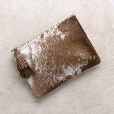 Masai Mara clutch in Tan Cowhide