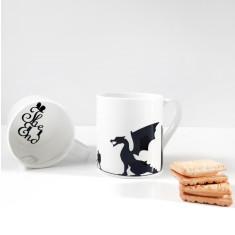 Knight and dragon mug