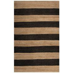 Black/Natural - Natural Fibre Rug