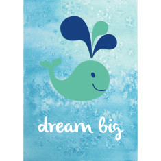 Dream big whale watercolour art print