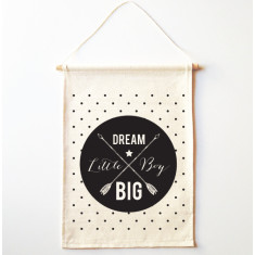 Dream big little boy wall banner