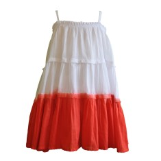 Girls' dip dye dress in red