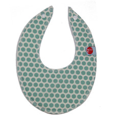 Dribble bib in honeycomb green