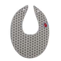 Dribble bib in honeycomb grey
