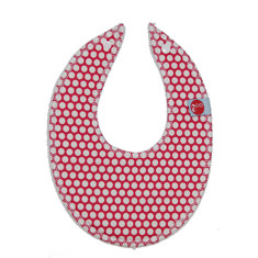 Dribble bib in honeycomb red
