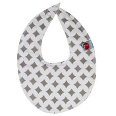 Dribble bib in grey lattice