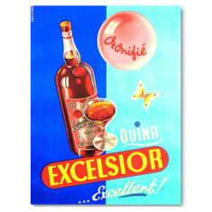 Drink Excelsior canvas