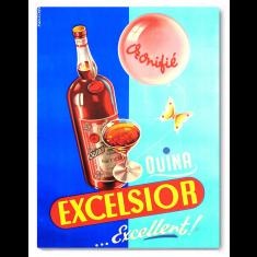 Drink Excelsior canvas