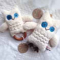 Owl teething rattle & music toy set