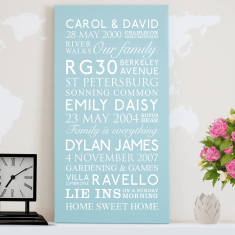 Personalised Mum's Best Memories Canvas