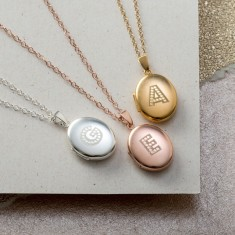 Personalised Letter-In-Lights Locket Necklace