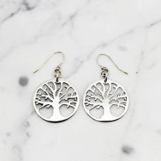 Tree of Life Sterling Silver Earrings - Handmade