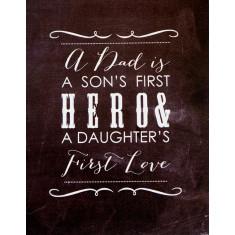 Dad hero chalkboard canvas