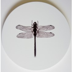 Circle dragonfly canvas