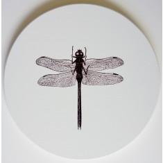 Circle dragonfly canvas