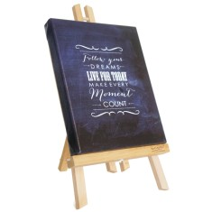 Follow your dreams chalkboard canvas