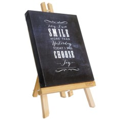 Today I will smile chalkboard canvas