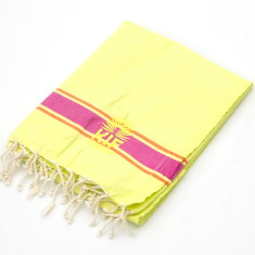 Bondi kids towel in fluoro