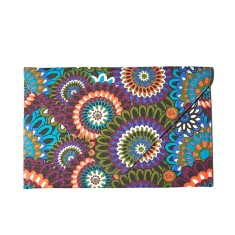 Woodstock paisley clutch