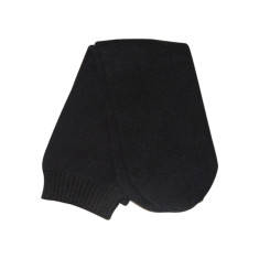 Sleep socks in black cashmere