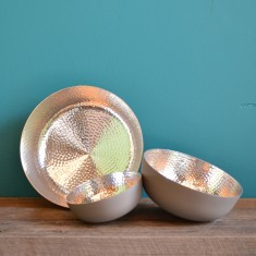 Copenhagen spin bowl in grey /silver (various sizes)