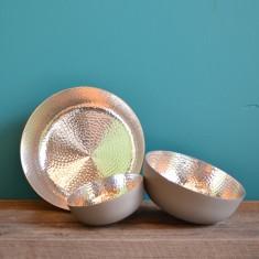 Copenhagen spin bowl in grey /silver (various sizes)