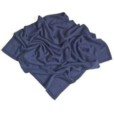 Cashmere poncho in indigo