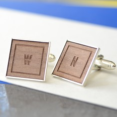 Personalised classic initial cufflinks