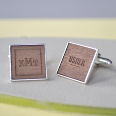 Personalised monogram groomsman cufflinks