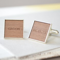 Personalised groomsman cufflinks