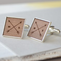 Personalised arrow cufflinks