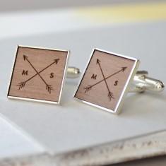 Personalised arrow cufflinks