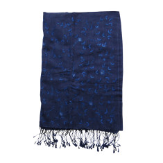 Silk/cashmere embroidered scarf