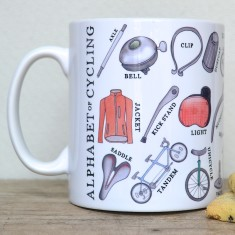 Cycling alphabet mug