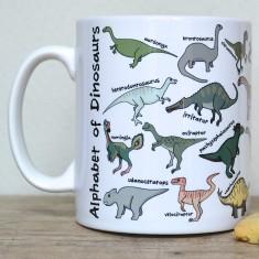 Dinosaur alphabet mug