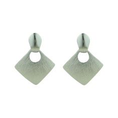 Brushed silver drop earrings