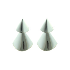 Geometric drop earrings in silver
