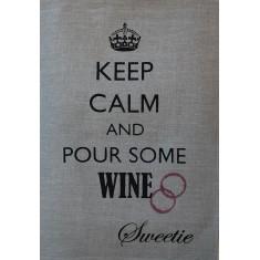 Wine lovers tea towel
