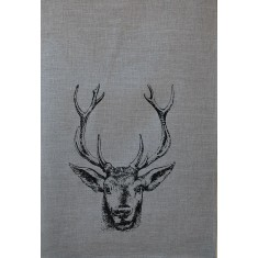 Christmas deer tea towel